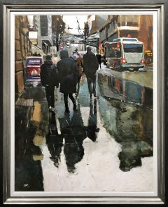 David Coulter Cross Street to Market Original Painting for sale