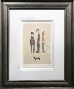 L S Lowry – Three Men and a Cat – Signed Limited Edition Print