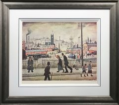 L S Lowry – View of a Town – Signed Limited Edition Print