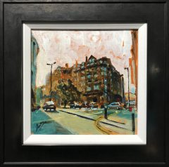 David Coulter Sunny Manchester Study Original Painting for sale