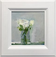 Judith Donaghy White Rose Original Painting