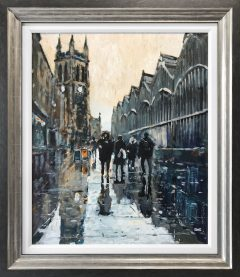 David Coulter Early Before Market, Stockport Original Painting for sale