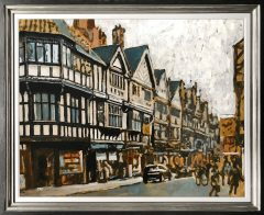 David Coulter Original Painting Chester Shops