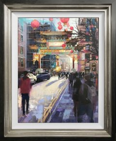 Louis Smith Chinatown Original Oil Painting