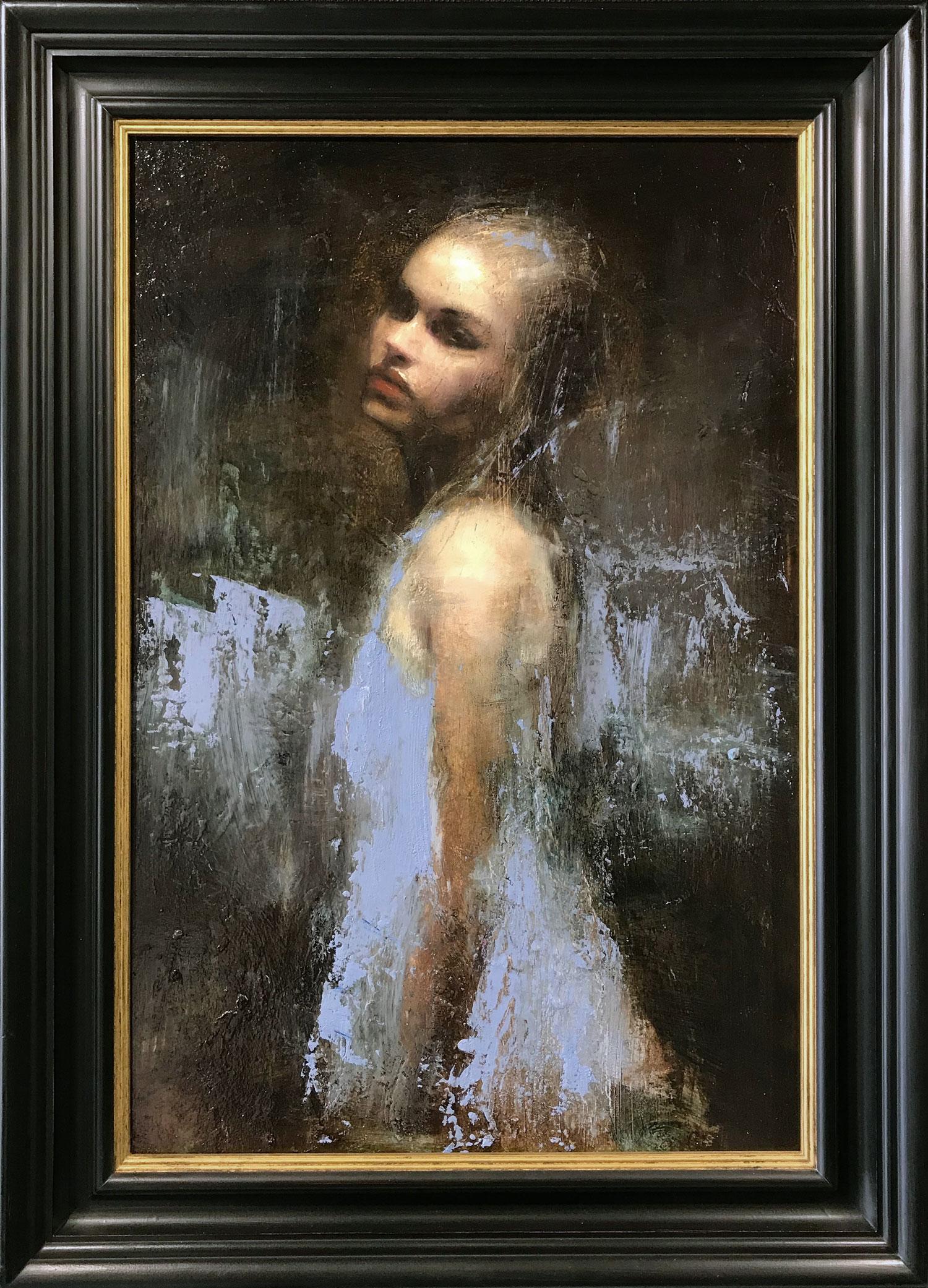 Mark Demsteader Chloe Study in Blue Original Oil Painting