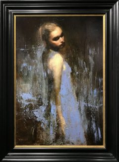 Mark Demsteader Chloe Study in Blue II Original Oil Painting