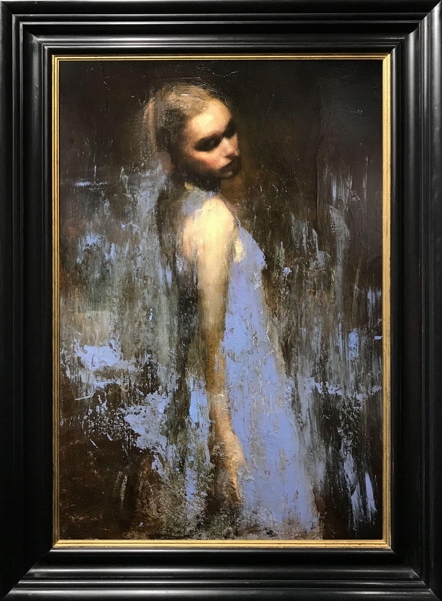 Mark Demsteader Chloe Study in Blue II Original Oil Painting