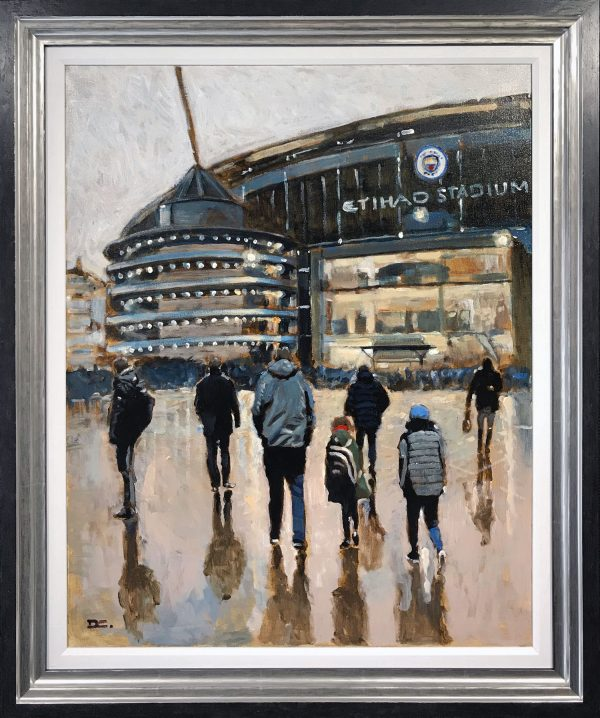 David Coulter Etihad Original Painting for sale
