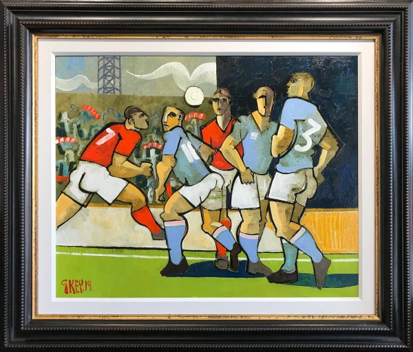 Geoffrey Key The Match Original Oil Painting for Sale