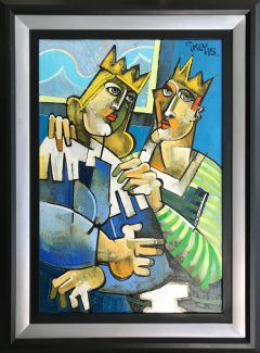 Geoffrey Key Window King & Queen Painting