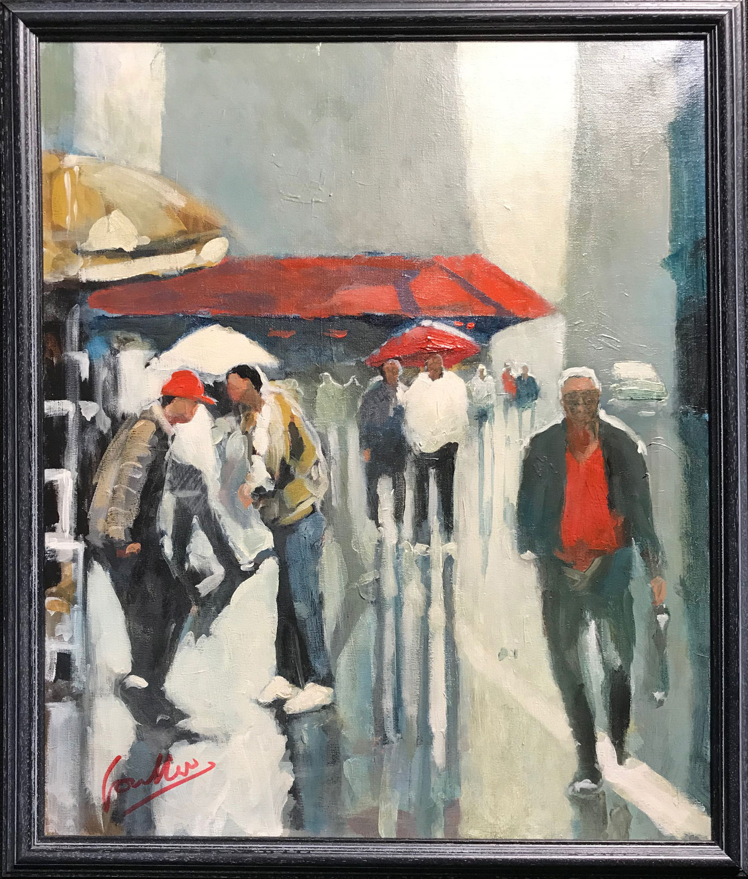 David Coulter Red Cap Original Painting for sale