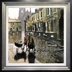 David Coulter Wet Salford, Stockport Original Painting for sale