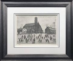 L S Lowry - St Mary's Beswick - Signed Limited Edition Print