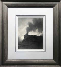 Trevor Grimshaw Steam Train 1972 Original Drawing for Sale
