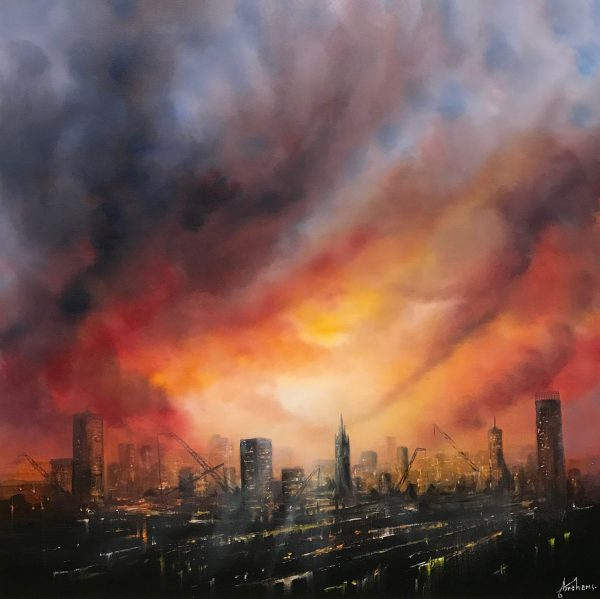 DANNY ABRAHAMS - RED SKY OVER MANCHESTER