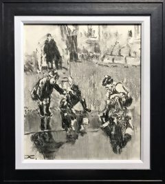 David Coulter Charcoal Kids Original Drawing for sale
