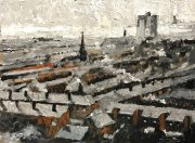 David Coulter Rooftop Greys Original Painting for sale 2
