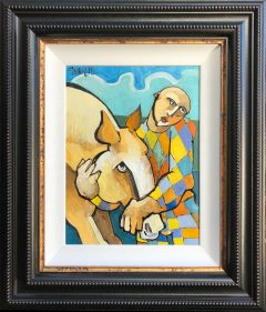 Geoffrey Key Embrace Original Oil Painting for Sale