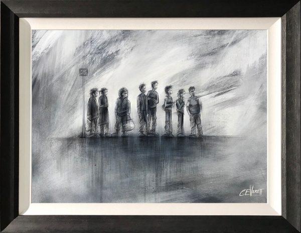 Craig Everett Always Late Original Painting for Sale