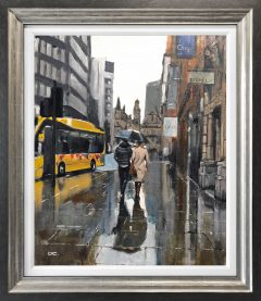 David Coulter Yellow Bus Original Painting for sale