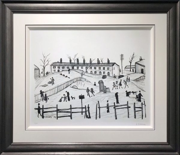 L S Lowry - Winter in Broughton - Signed Original Lithograph