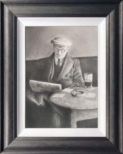 Dave Hartley A Quiet Pint Original Drawing
