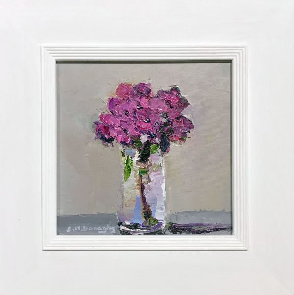 Judith Donaghy Purple Hydrangea Original Painting