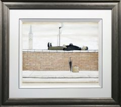 L S Lowry - Man lying on a wall