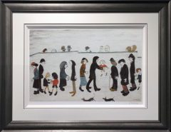 L S Lowry - Man Holding Child
