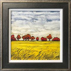 Steve Capper Yellow Field in Cheshire Original Painting