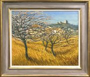 Alan Cotton - Cherry Orchard, Provence Original Oil Painting for Sale