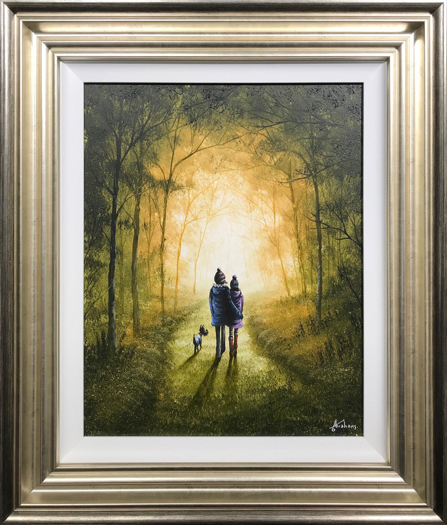 Danny Abrahams Original Painting Never Been Happier