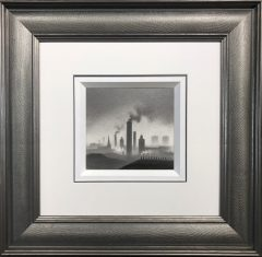 Trevor Grimshaw Smoking Chimneys Original Drawing for Sale