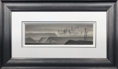 Trevor Grimshaw Train Through the Valley Original Drawing for Sale
