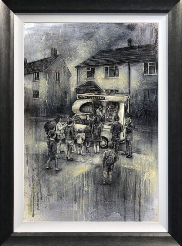 Craig Everett Ice Cream Man Original Painting for Sale