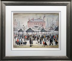 L S Lowry - Market Scene in a Northern Town