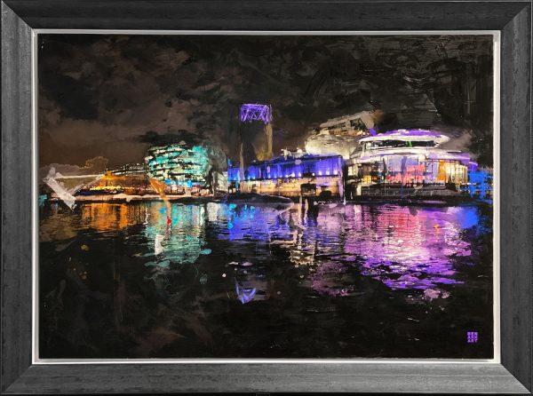 Ben Ark - Salford Quays, Beyond the Art Original Mixed Media Artwork