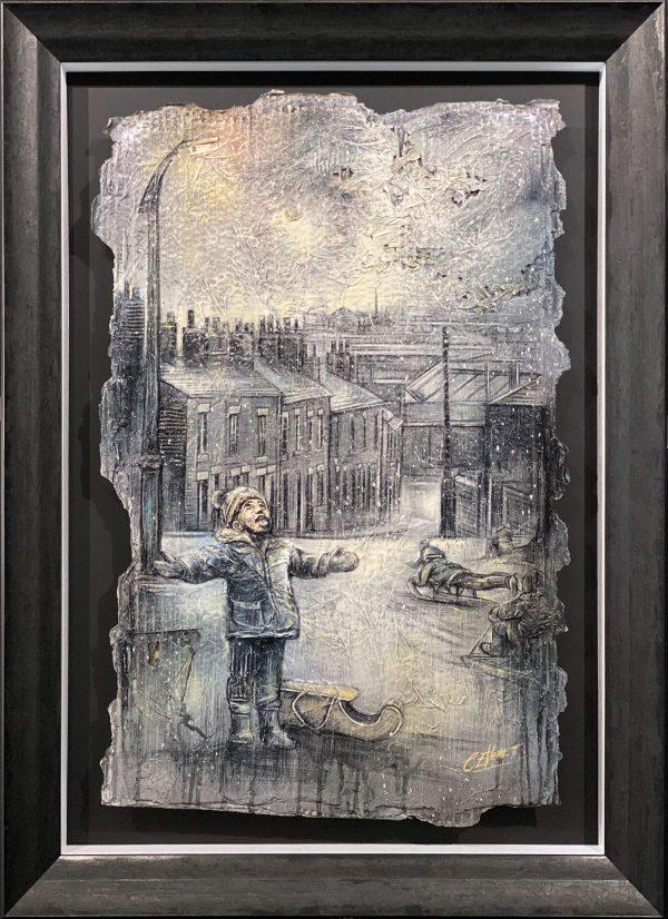 Craig Everett Let it Snow 3D Original Painting for Sale