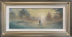 Danny Abrahams Original Painting A Winters Stroll