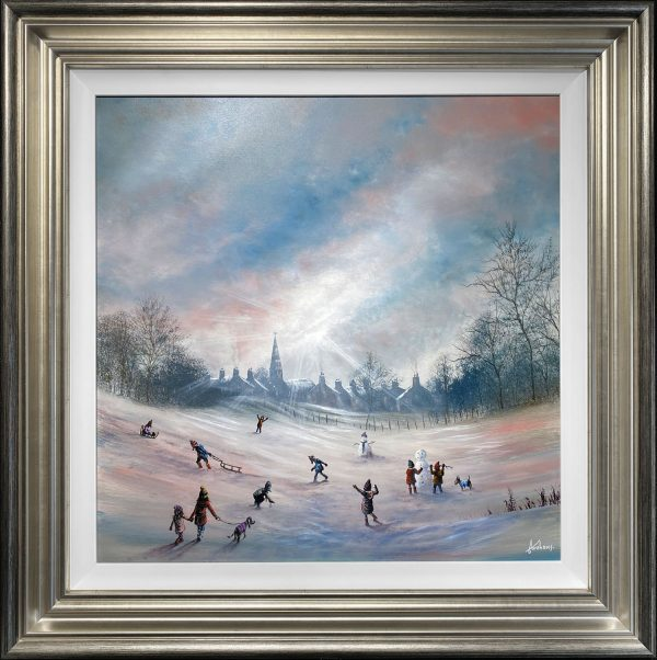 Danny Abrahams Original Painting Theres no time like Snow time
