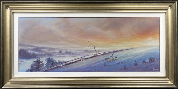 Danny Abrahams Original Painting Its an uphill slog to get to the top
