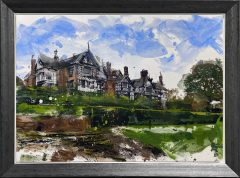 Ben Ark - Bramall Hall Original Mixed Media Artwork