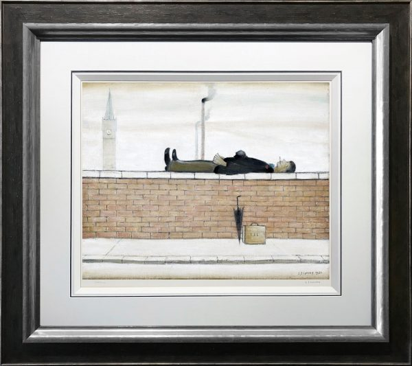 L S Lowry - Man Lying on a Wall (New In)