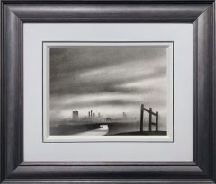 Trevor Grimshaw River & Factories Original Drawing for Sale