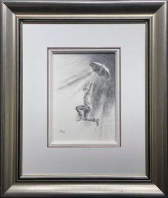 Bob Barker Original Drawing for sale Jumping For Joy