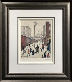 L S Lowry – Street Scene – Signed Limited Edition Print
