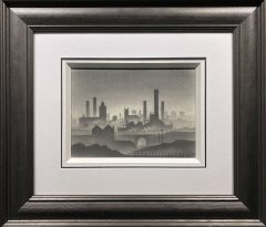 Trevor Grimshaw Misty City Original Drawing for Sale