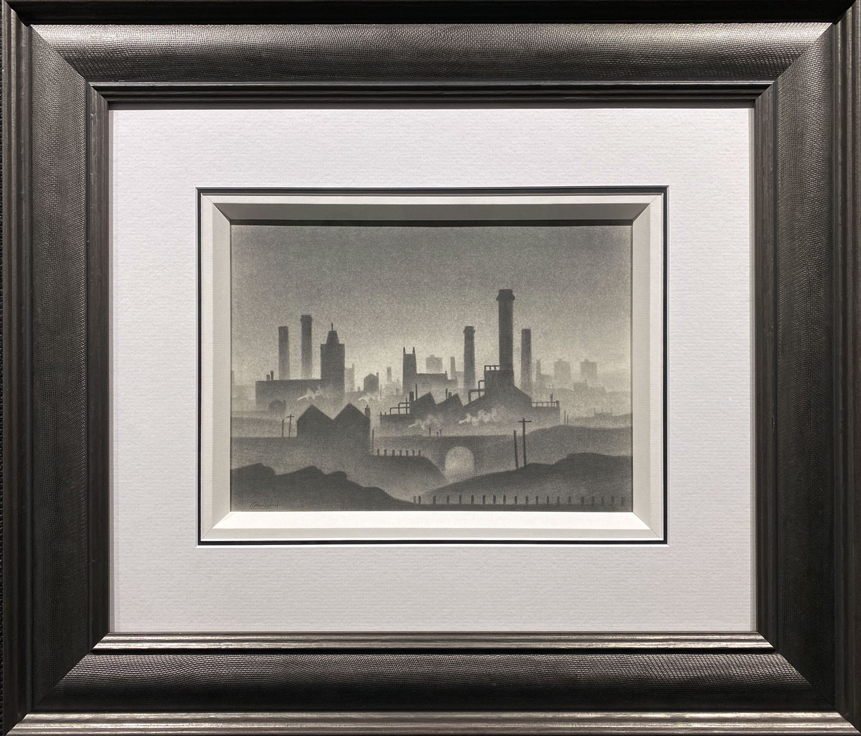 Trevor Grimshaw Misty City Original Drawing for Sale