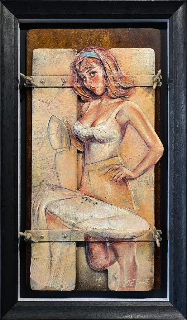 Craig Everett The Iron Lady 3D Original Painting for Sale