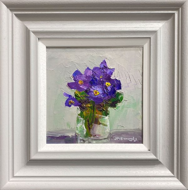 Judith Donaghy Winter Primrose Original Painting